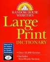 Random House Webster's Large Print Dictionary
