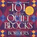 101 Full-Size Quilt Blocks and Borders (Better Homes & Gardens)