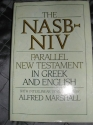 Nasb-Niv: Parallel New Testament in Greek and English With Interlinear Translation