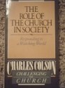 The Role of the Church in Society (Challenging the church)