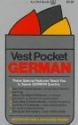 Vest Pocket German (Vest Pocket Series)