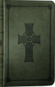The Holy Bible: ESV English Standard Version [Pocket Size with Embossed Cross on Front] Olive