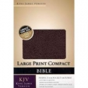 The Holy Bible: King James Version Large Print Compact Black Bonded Leather