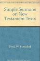 Simple Sermons on New Testament Texts