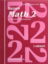 Saxon Math 2: Student Workbook Volume 2, First Edition