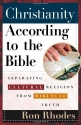 Christianity According to the Bible: Separating Cultural Religion from Biblical Truth