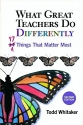 What Great Teachers Do Differently: 17 ...