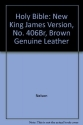 Holy Bible: New King James Version, No. 406Br, Brown Genuine Leather