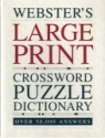 Webster's Large Print - Crossword Puzzle Dictionary Over 50,000 Answers