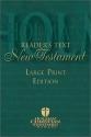 Reader's Text New Testament Bible (Holman Christian Standard Bible)