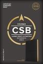CSB Large Print Ultrathin Reference Bible, Black Premium Goatskin, Black Letter Edition