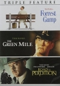 Tom Hanks Triple Feature DVD set with Forrest Gump, The Green Mile, & The Road to Perdition
