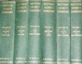 Matthew Henry's Commentary Set of 6 volumes, #1-6