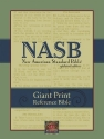 NASB Giant-Print Reference Bible (Black Imitation Leather)