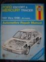 Ford Escort & Mercury Tracer Automotive Repair Manual: All Ford Escort & Mercury Tracer Models : 1991 Through 1996 (Haynes Auto Repair Manuals Series)