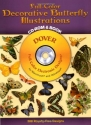 Full-Color Decorative Butterfly Illustrations CD-ROM and Book (Dover Electronic Clip Art)