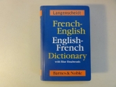 French-English English-French Dictionary with Blue Headwords by Langenscheidt