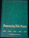 Pronouncing Bible Names