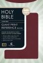 Giant Print Center-Column Reference Bible (KJV, Burgundy Bonded Leather)