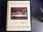 The Holy Bible: Authorized King James Version, With Full-Color Illustrations of the Old Masters (1976, Hologram of The Last Supper on Cover)