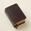 LDS Scriptures - Holy Bible, Book of Mormon, Doctrine and Covenants, Pearl of Great Price (Compact Quad) Burgundy Genuine Leather