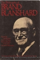The Philosophy of Brand Blanshard, Volume 15 (Library of Living Philosophers (Hardcover))