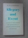 Allegory and event;: A study of the sources and significance of Origen's interpretation of scripture