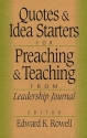 Quotes and Idea Starters for Preachings and Teaching: From Leadership Journal