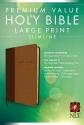 Premium Value Slimline Bible Large Print NLT, TuTone