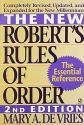 The New Robert's Rules of Order: Completely Revised, Updated, and Expanded for the New Millennium
