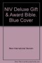 NIV Deluxe Gift & Award Bible. Blue Cover