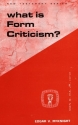What Is Form Criticism? (Guides to Biblical Scholarship: New Test)