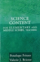 Science Content for Elementary and Middle School Teachers