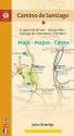 Camino de Santiago Maps - Mapas - Cartes: St. Jean Pied de Port - Roncesvalles - Santiago de Compostela - Finisterre (Camino Guides) (Spanish Edition)