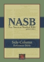 NASB Update Side-Column Reference; Burgundy Bonded Leather