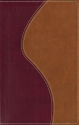 Holy Bible-New International Version-Thinline-Burgundy and Tan Italian Duo-Tone Leather Cover