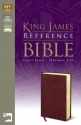 KJV, Reference Bible, Giant Print, Personal Size, Bonded Leather, Burgundy, Red Letter Edition (King James Reference Line)