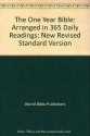 The One Year Bible: Arranged in 365 Daily Readings: New Revised Standard Version