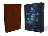 NKJV, Spirit-Filled Life Bible, Third Edition, Leathersoft, Brown, Red Letter Edition, Comfort Print: Kingdom Equipping Through the Power of the Word