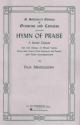 Hymn of Praise: Vocal Score Three Solo Voices and Piano by Felix Mendelssohn-Bartholdy (1986-11-01)