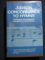 Judson concordance to hymns