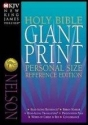 The Nelson Classic Giant Print Center-Column Reference Bible : New King James Version/Black Bonded Leather/Thumb Indexed/893