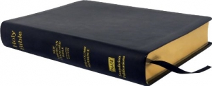 NASB Side-Column Reference Wide Margin Bible; Black Leathertex
