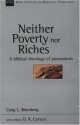 Neither Poverty nor Riches: A Biblical Theology of Possessions (New Studies in Biblical Theology)