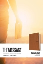 The Message Slimline (Leather-Look, Saddle Tan): The Bible in Contemporary Language