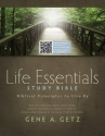 Life Essentials Study Bible, Brown LeatherTouch Indexed: Biblical Principles to Live By