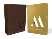 NKJV, Ancient-Modern Bible, Leathersoft, Brown, Comfort Print: One faith. Handed down. For all the saints.